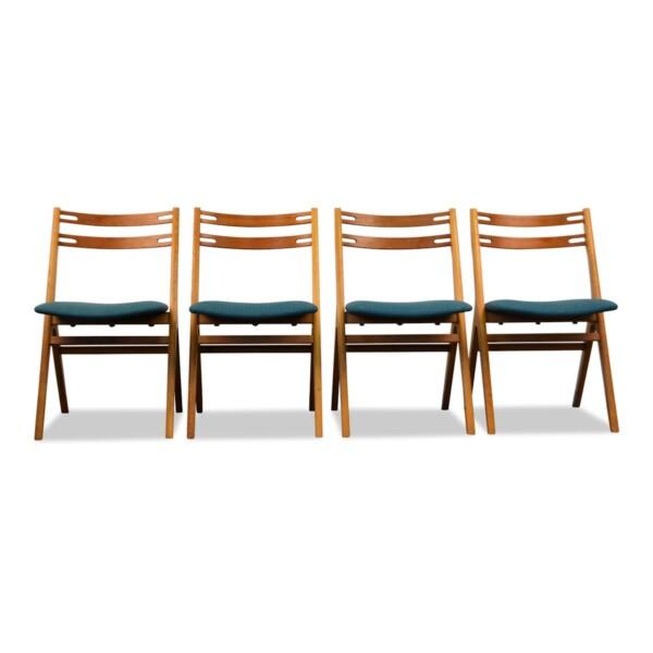 Vintage Teak/Oak Dining Chairs by Edmund Jørgensen - front