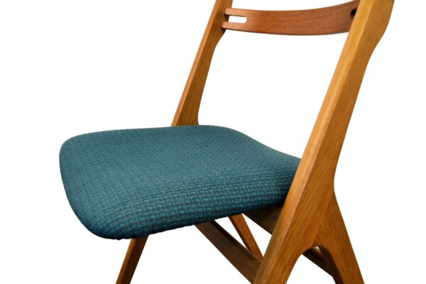 Vintage Teak/Oak Dining Chairs by Edmund Jørgensen - detail