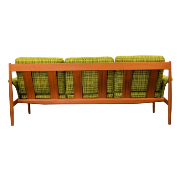 Vintage Grete Jalk Deens design teak bank (detail)