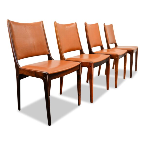 Vintage Rosewood Dining Chairs by Johannes Andersen