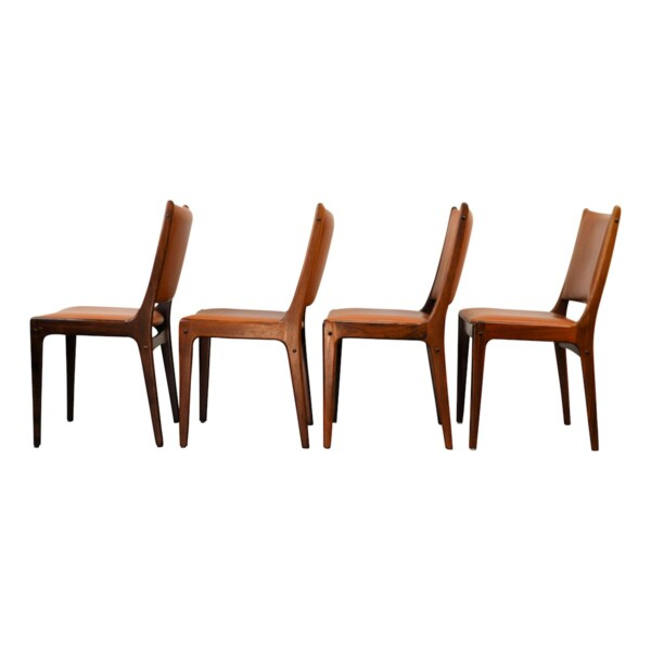 Vintage Rosewood Dining Chairs by Johannes Andersen - side