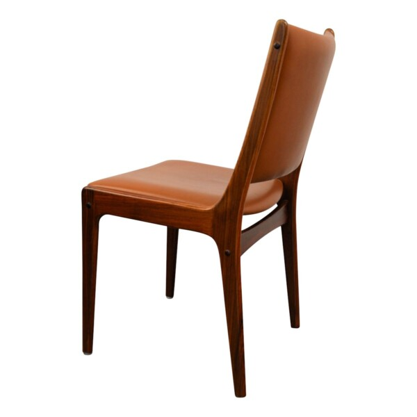 Vintage Rosewood Dining Chairs by Johannes Andersen - side and back
