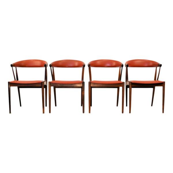 Vintage Johannes Andersen palisander armleuningstoelen