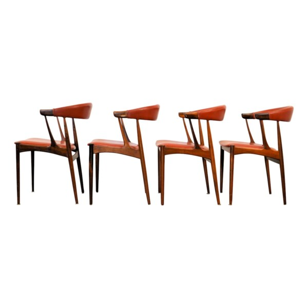 Vintage Dining Chairs by Johannes Andersen - side