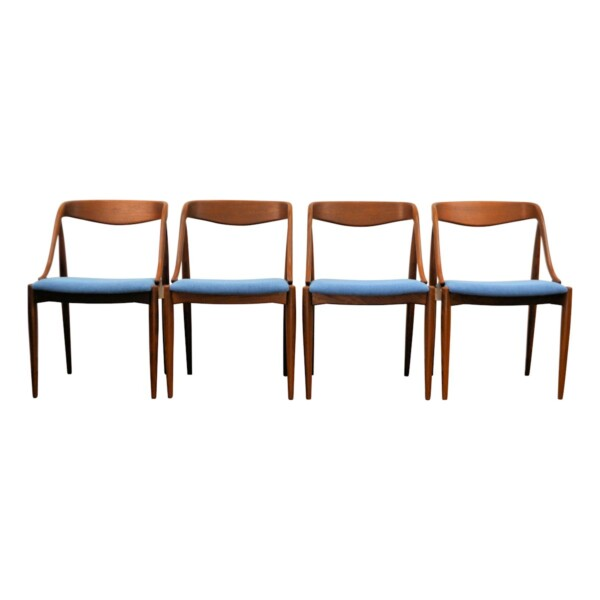 Vintage Teak Dining Chairs by Johannes Andersen - front