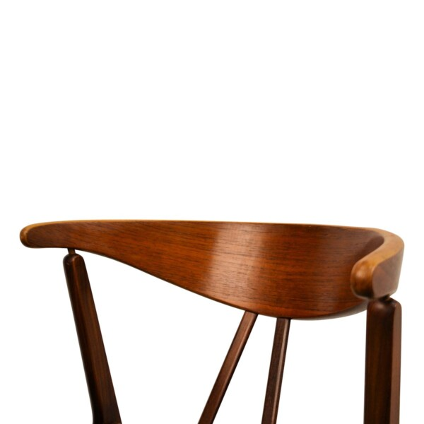Vintage Danish Teak/Oak Dining Chairs - detail backrest