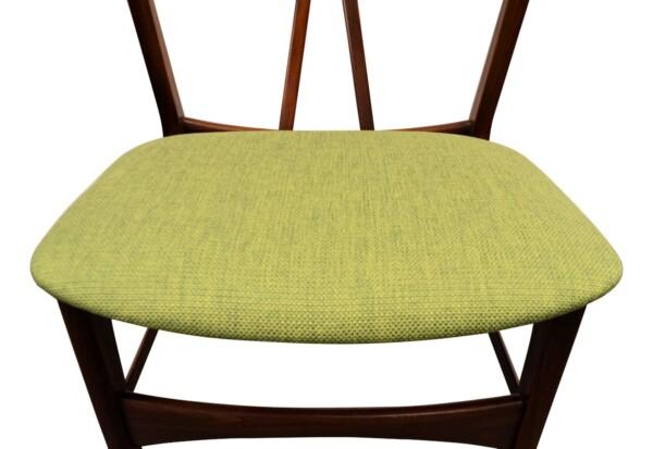 Vintage Danish Teak/Oak Dining Chairs - detail seat