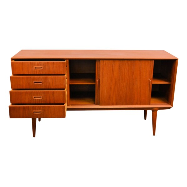 Vintage Omann Jun teak dressoir