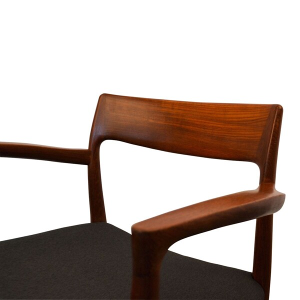 Vintage Niels O. Møller model #77 and #57 Dining Chairs - detail