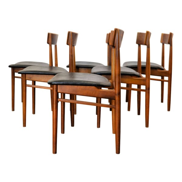 Vintage Henry Rosengren rosewood stoelen (6)
