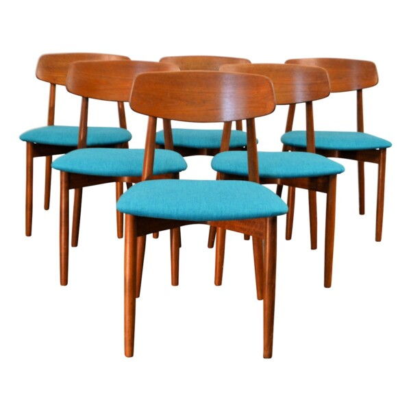Vintage Harry Østergaard Dining Chairs - front