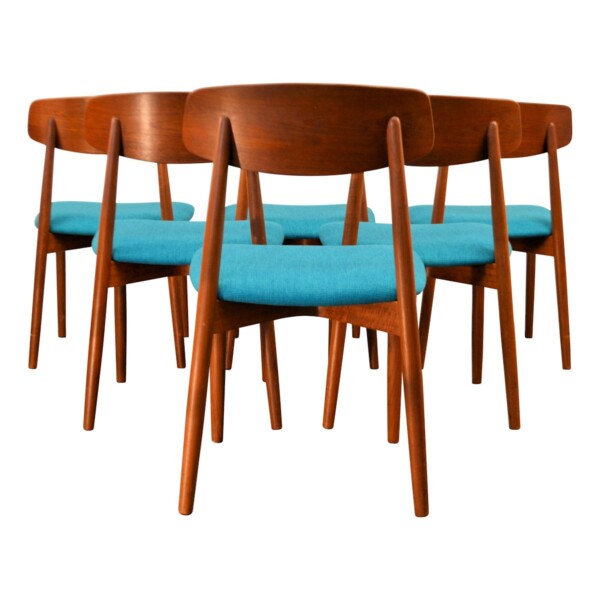 Vintage Harry Østergaard Dining Chairs - back