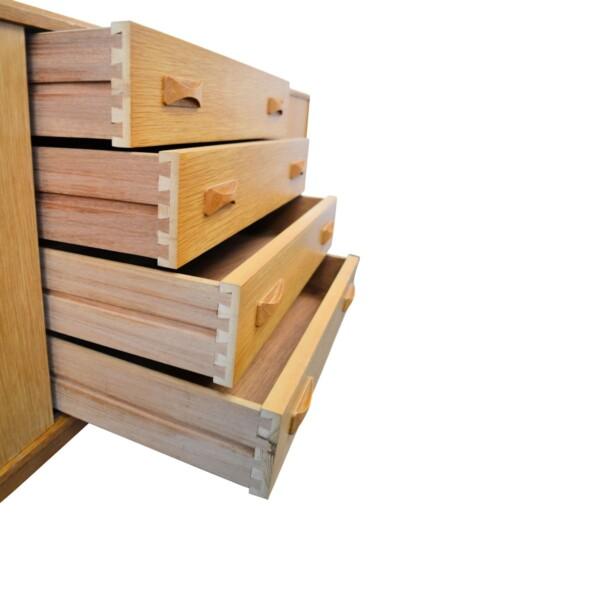 Vintage Oak Clausen & Son Sideboard - drawers open