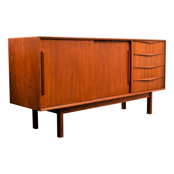 Vintage Teak Sideboard - side