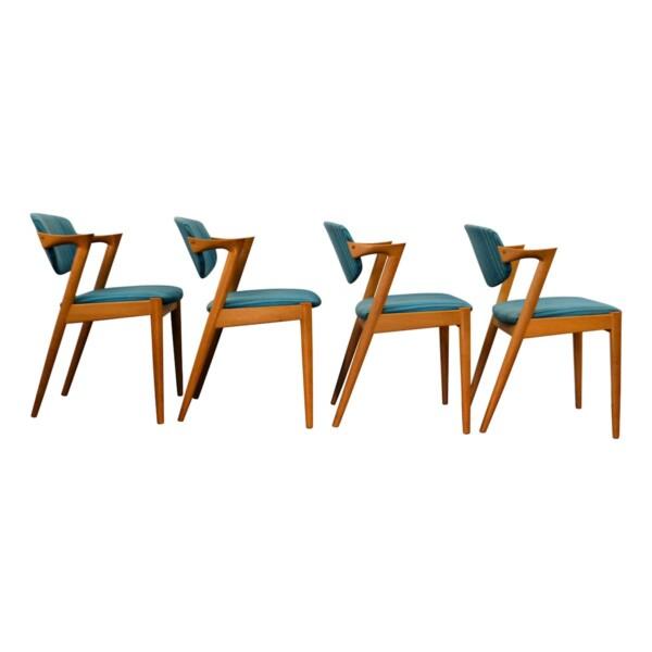 Vintage Kai Kristiansen Model #42 Dining Chairs -side