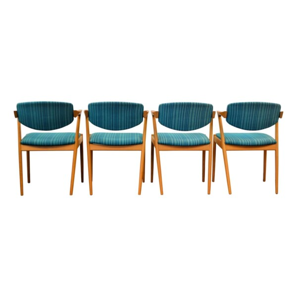 Vintage Kai Kristiansen Model #42 Dining Chairs -back