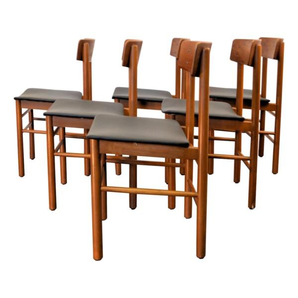 Vintage Børge Mogensen Dining Chairs - side