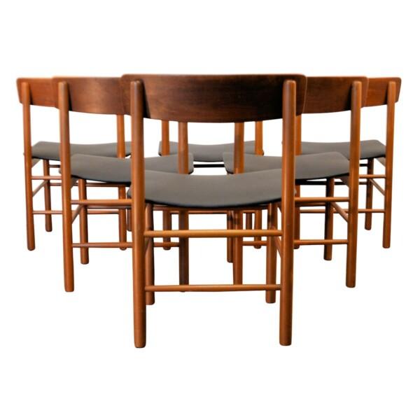 Vintage Børge Mogensen Dining Chairs - back