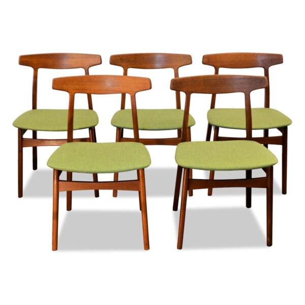 Vintage Henning Kjaernulf teak eetkamerstoelen (5)