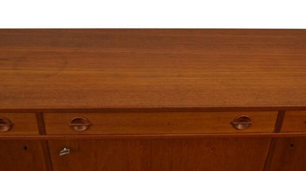 Vintage Zweeds Ulferts teak dressoir (detail)