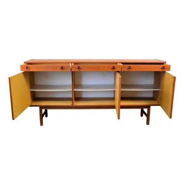 Vintage Teak Tage Olofsson Sideboard - open