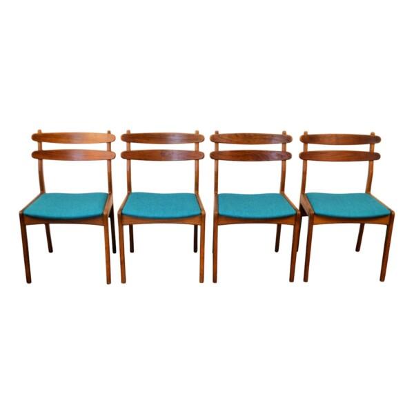 Vintage Dining Chairs by Slagelse Møbelvaerk - front