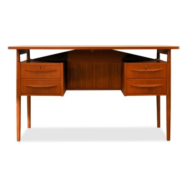 Vintage Gunnar Nielsen teak bureau