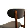 Vintage Deens design palisander eetkamerstoel (detail)