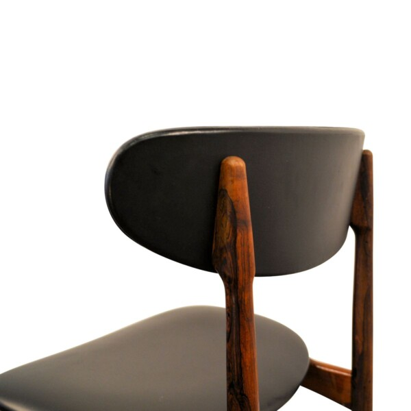 Vintage Danish Rosewood Dining Chairs - backrest
