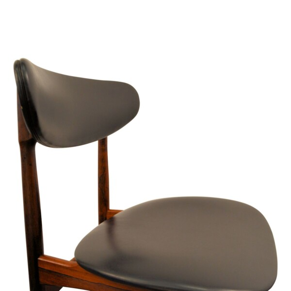 Vintage Danish Rosewood Dining Chairs - detail