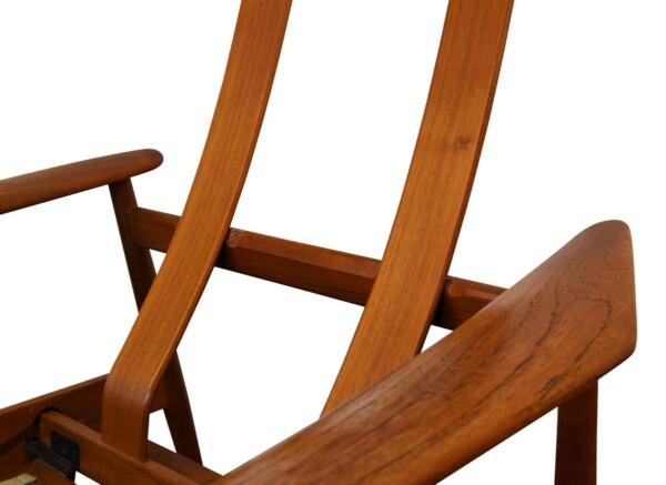 Vintage Arne Vodder FD164 teak fauteuil (detail)