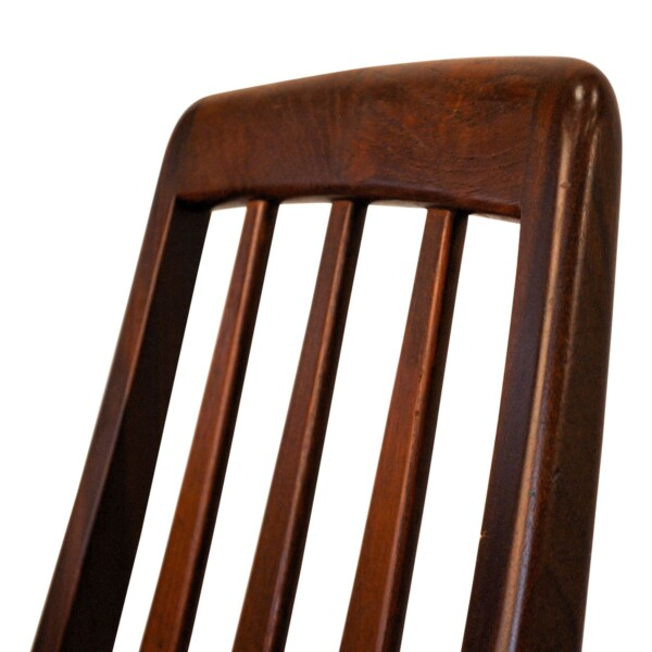 Vintage Niels Koefoed teak stoel (detail)
