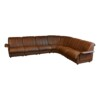 Vintage Leather Corner Sofa by Skipper