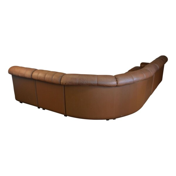 Vintage Leather Corner Sofa by Skipper - back