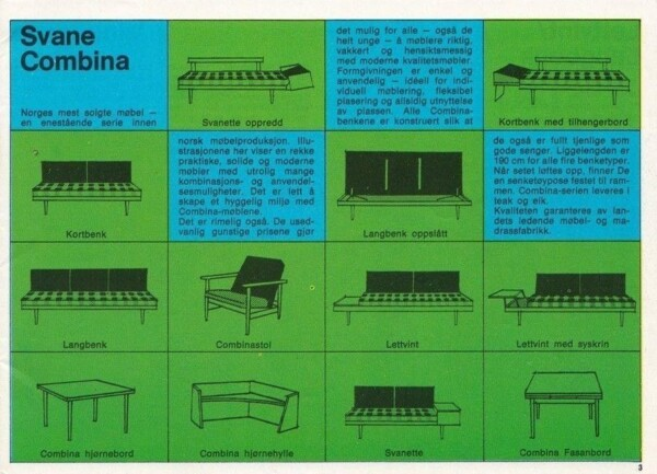 Vintage Norwegian Two-seater Sofa/Daybed by Ilmar Relling