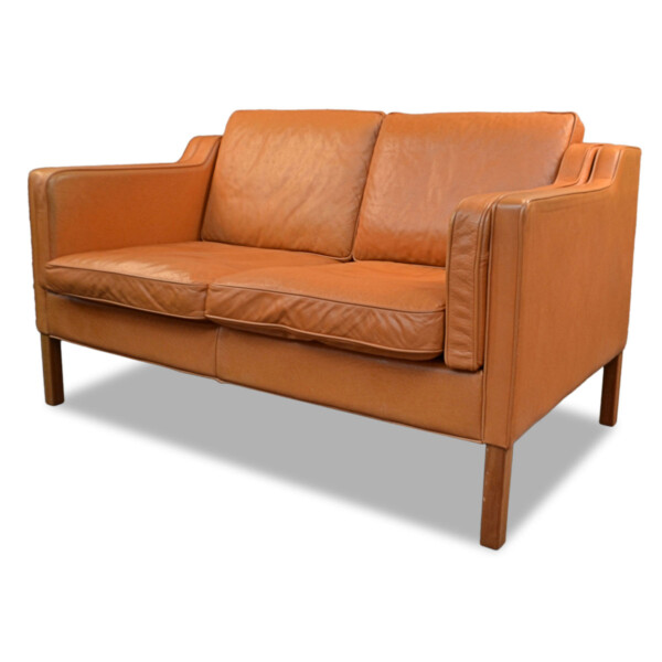 Vintage Borgen Mogensen Style Two-seater Sofa by Stouby