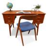 Vintage Deense Carl Aage Skov teak bureau