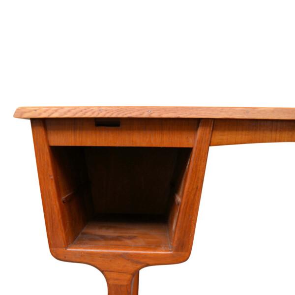 Vintage Danish Teak Desk by Carl Aage Skov