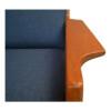 Stunning pair of vintage teak lounge chairs designed by Danish designer Arne Wahl Iversen for Komfort.