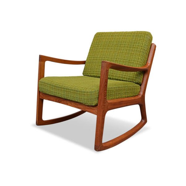 Vintage Danish Model Senator Rocking Chair by Ole Wanscher