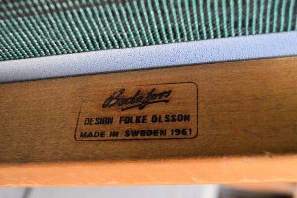 Vintage Teak Sofa by Folke Ohlsson - branding