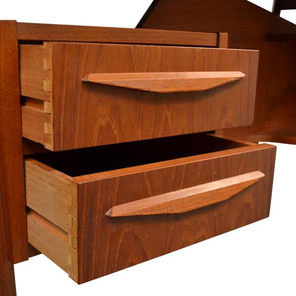 Vintage Teak Desk by Tibergaard - drawers