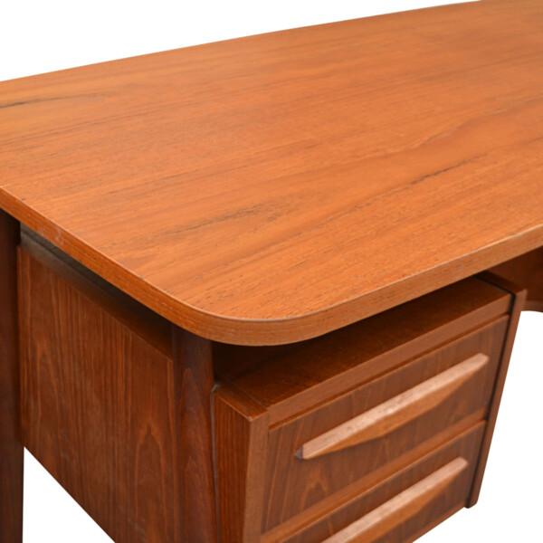 Vintage Teak Desk by Tibergaard - top