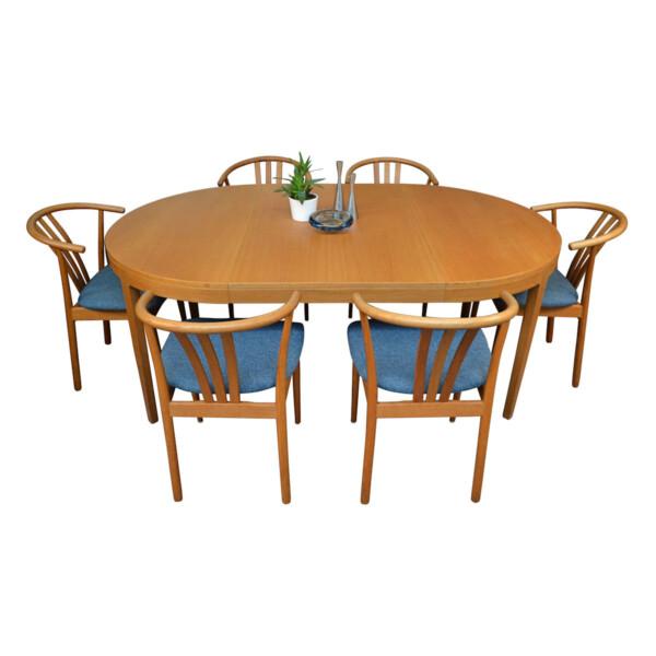 Vintage Danish Hans J. Wegner Style Dining Set