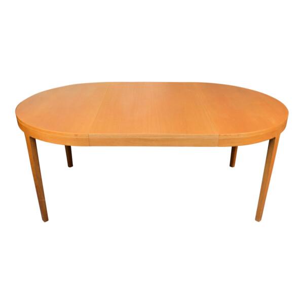 Vintage Danish Oak Dining Table - extended