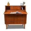 Vintage Danish Style Teak Secretaire Desk - desktop pulled out