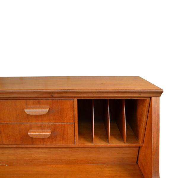 Vintage Danish Style Teak Secretaire Desk - detail