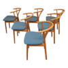 Vintage Danish Hans J. Wegner Style Dining Chairs