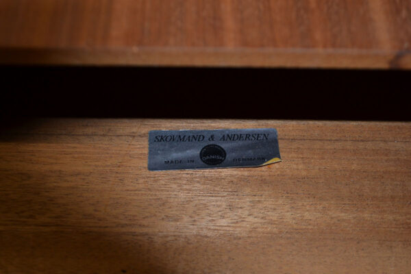 Vintage Danish Skovmand & Andersen Dining Table - branding
