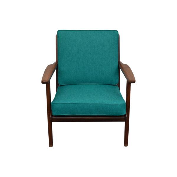 Vintage Deense Aage Pedersen teak fauteuil
